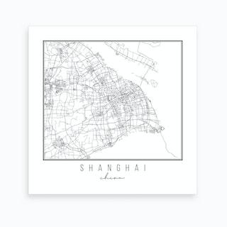 Shanghai China Street Map Art Print