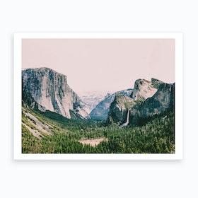 Pink Mountain Valley Art Print