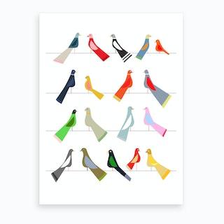 Hello Birdy Art Print