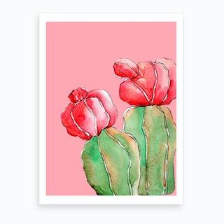 Pastel Cactus Iii Art Print
