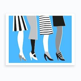 Blue Legs Art Print