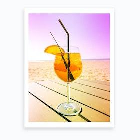 Cocktail At The Beach Art Print