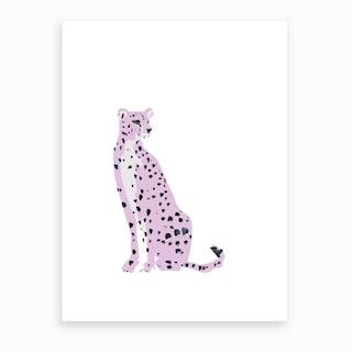 Pink Leo Art Print