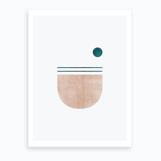 Abstract Geometric 5 Art Print