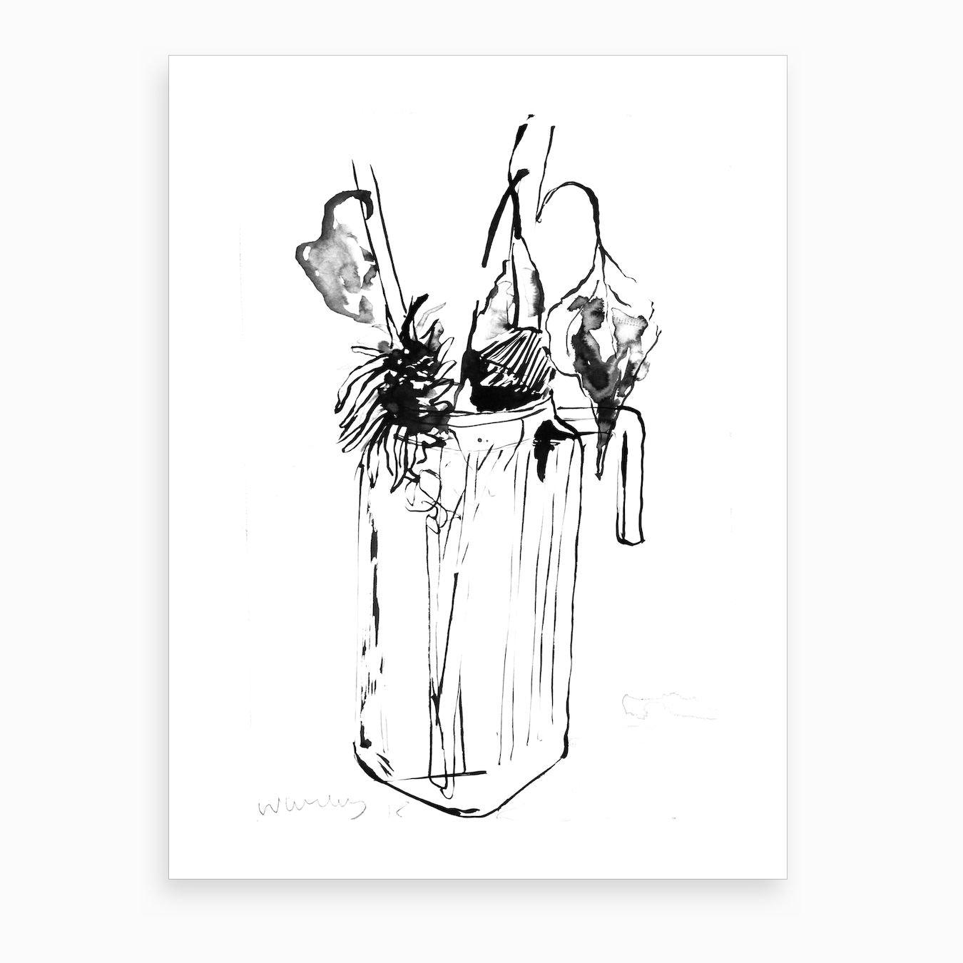 Weaping Flowers Art Print