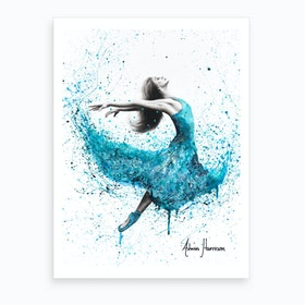 Turquoise Rain Dancer Art Print
