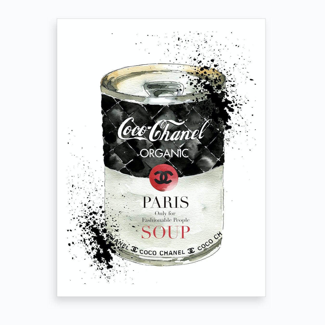 Fashion Soup Chanel Art Print