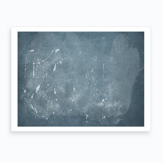 Minimal Abstract Blue Painting 4 Art Print