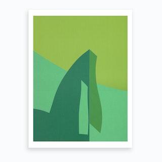 Green Fantasy 1 Art Print