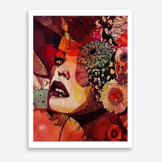 Flowerface Art Print