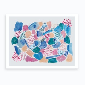 Abstract Mark Making Art Print