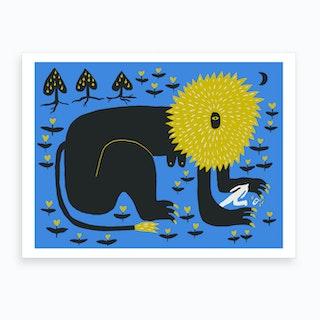 She Lion Art Print