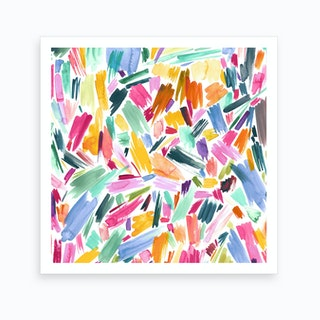 Artist Simple Pleasure Square Art Print