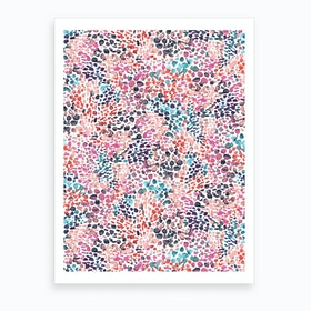 Speckled Watercolor Pink Art Print