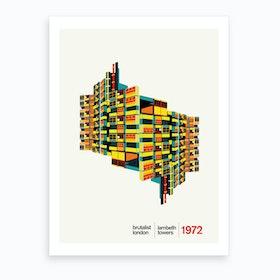Lambeth Towers London Art Print