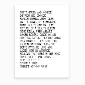 Vogue Art Print