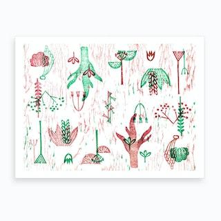 Xilo Plants Art Print