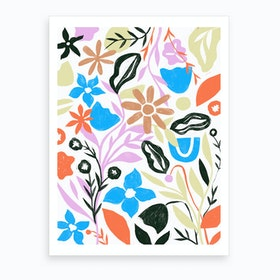 Floral Forest Art Print