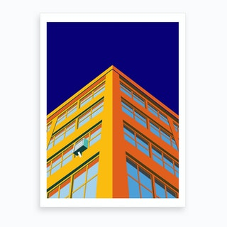 Industry City At Sunset Art Print