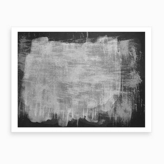Minimal Abstract Black And White Painting 7 Art Print
