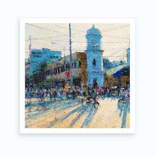 Clock Tower, Evening Light Art Print