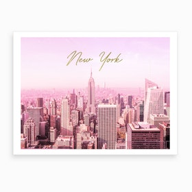 New York Pink Art Print