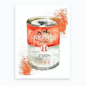 Fashion Soup Hermes Art Print