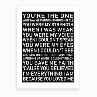 You're The One Black Art Print