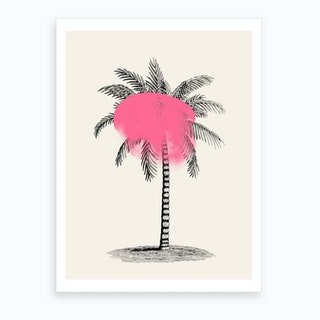 Tropical Tree Pink Art Print