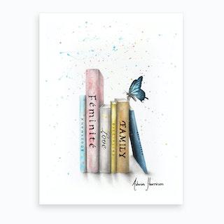 Books Of Her Journey Art Print