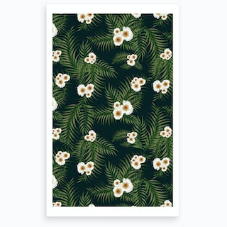 Wrong Gloomy Jungle Pattern Art Print
