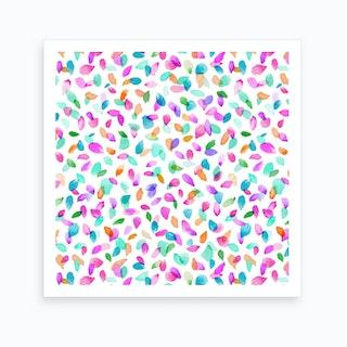 Minimal Flower Petals Pink Art Print
