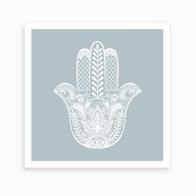 Calm Hamsa Hand Art Print