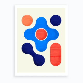 Shapes  Modern Geometry No3 Art Print