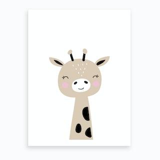 Scandi Giraffe Art Print