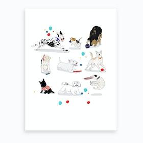 Playing Dogs Art Print