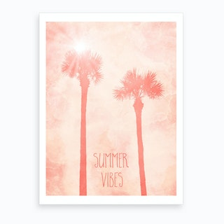 Palm Trees Summer Vibes Art Print