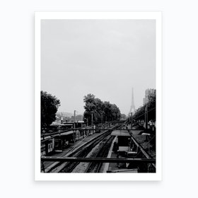 Eiffel In The Fog Art Print