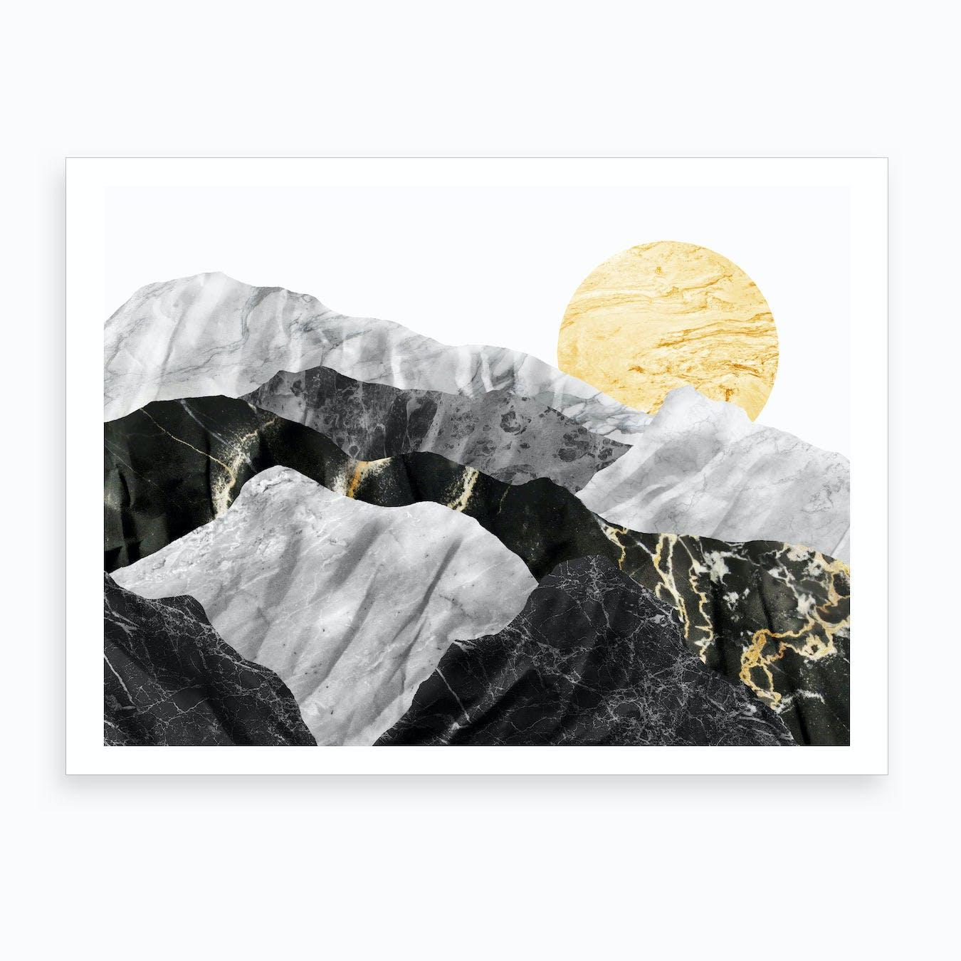 Marble Landscape IV Art Print