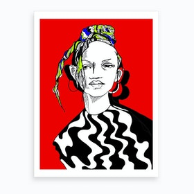 Shes Cool Art Print