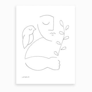 Peaceful Bird Art Print