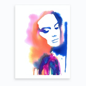 Contrasts Within Art Print