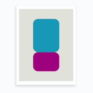 Emphatic Teal Purple Art Print