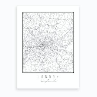 London England Street Map Art Print