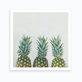 Three Pineapples Art Print