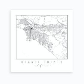 Orange County California Street Map Art Print