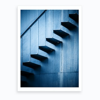 Protrusion In Blue Art Print