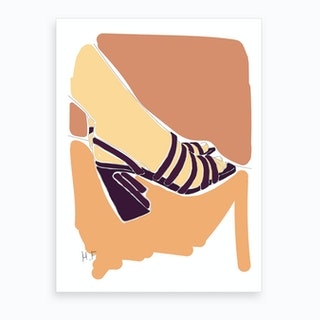 Painted Heels Art Print