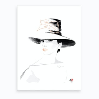 Audrey Hepburn 1 Art Print