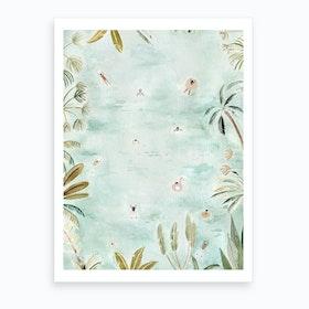 Tropical Swimmers Art Print